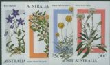 Aus SG1028-31 Alpine Wildflowers set of 4 from booklets (exSB55-56)